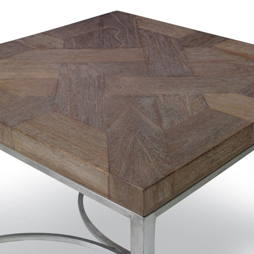 Square End Table - Brown
