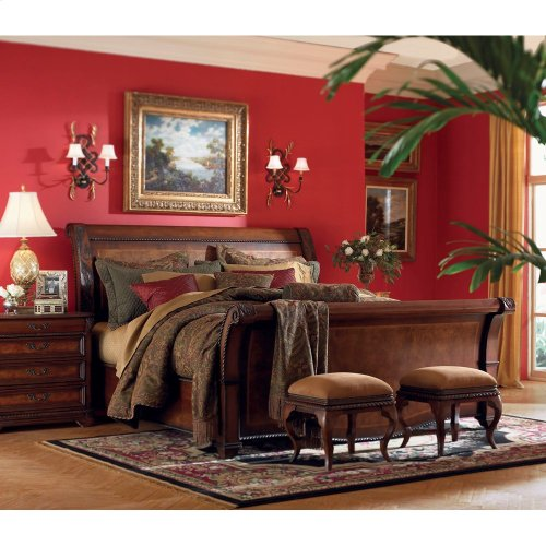 King Sleigh Bed Footboard