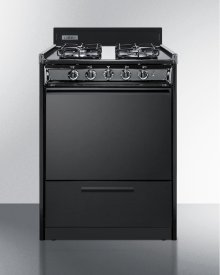 """24"""" Wide Gas Range In Black With Sealed Burners and Electronic Ignition"""
