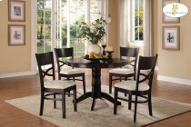 5-Piece Pack Dinette Set Table: 42Dia x 30H Chair: 18.75 x 20.5 x 36H Product Image
