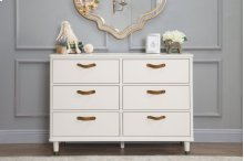 Warm White Tanner 6-Drawer Dresser