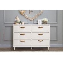 Warm White Tanner 6-Drawer Dresser