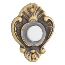 Satin Brass and Brown Victorian Bell Button