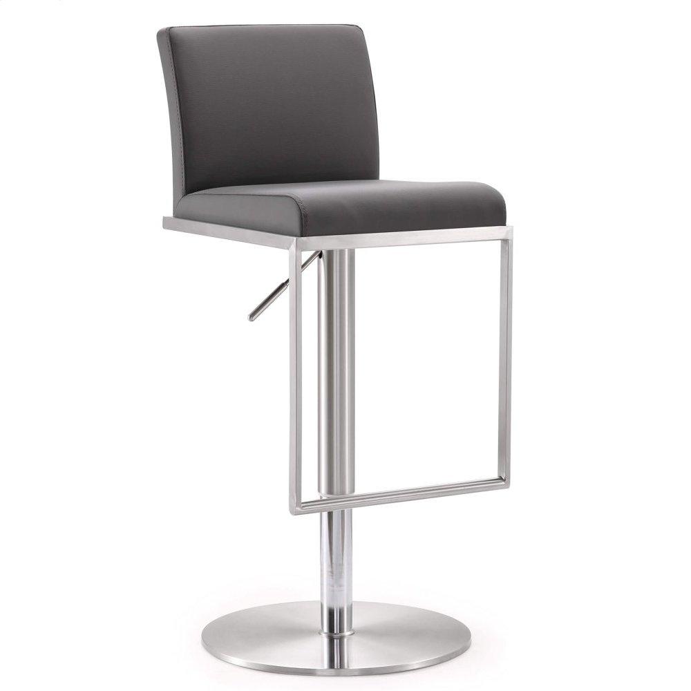 Amalfi Grey Stainless Steel Adjustable Barstool