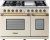 Additional Range DECO 48'' Classic Cream matte, Bronze 6 gas, griddle and 2 electric ovens