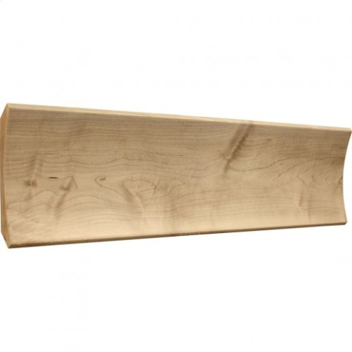 """6"""" x 3/4"""" Cove Moulding, Species: Hard Maple Priced by the linear foot and sold in 8' sticks in cartons of 56'."""