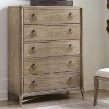 Sophie - Five Drawer Chest - Natural Finish