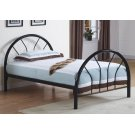 BED - TWIN SIZE / BLACK METAL FRAME ONLY Product Image
