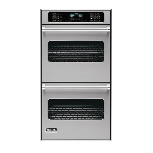 "Metallic Silver 27"" Double Electric Touch Control Premiere Oven - VEDO (27"" Wide Double Electric Touch Control Premiere Oven)"