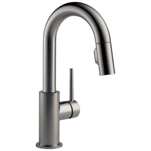 Black Stainless Single Handle Pull-Down Bar/Prep Faucet Product Image