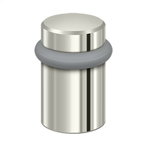 "Round Universal Floor Bumper 2"", Solid Brass - Polished Nickel"
