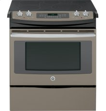 "GE® 30"" Slide-In Front Control Electric Convection Range"