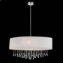 6-LIGHT OVAL PENDANT - Chrome