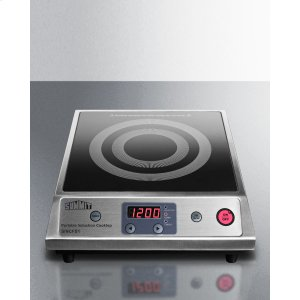 SummitPortable Single Zone Induction Cooktop With Black Ceran Smooth-top Finish