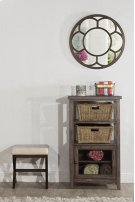 Tuscan Retreat® Basket Stand With Wire Door and Two Baskets - Mocha Product Image