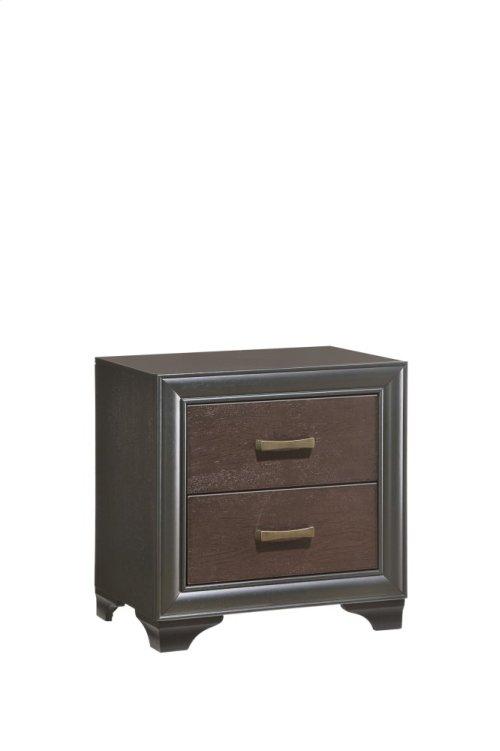 Emerald Home Prelude Nightstand 2 Drawer Honey Black/brown B588-04