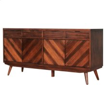 Piero Chevron Buffet 4 Drawers + 4 Doors, Java