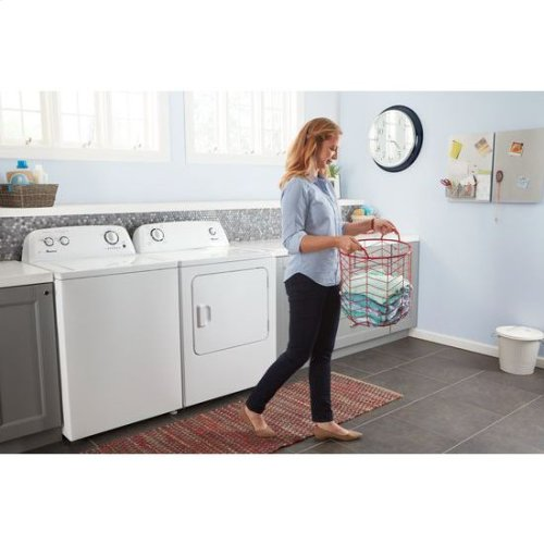 3 5 cu  ft  Top-Load Washer with Dual Action Agitator - white