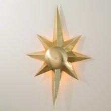 Klismos Star Sconce-Brass-HW