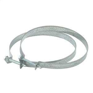 "Amana4"" Steel Dryer Venting Clamp - 2 Pack"
