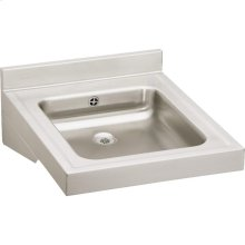 "Elkay Sturdibilt Stainless Steel 19"" x 23"" x 4"", Wall Hung Single Bowl Lavatory Sink"