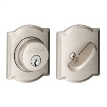 Single Cylinder Deadbolt with Camelot trim - Satin Nickel