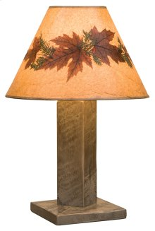 Table Lamp With Lamp Shade, Driftwood