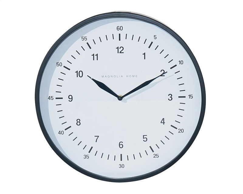90901584 In By Magnolia Home In Vernal Ut Black Emily Wall Clock