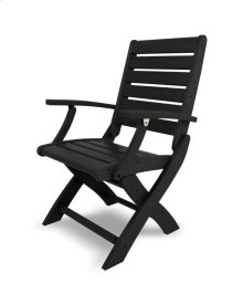 Black Signature Folding Chair