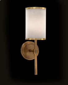 Brass-Banded One-Light Wall Sconce