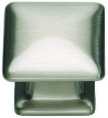 Alcott Square Knob 1 1/4 Inch - Brushed Nickel