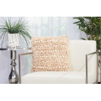 """Shag Dl658 Beige 16"""" X 16"""" Throw Pillows Product Image"""