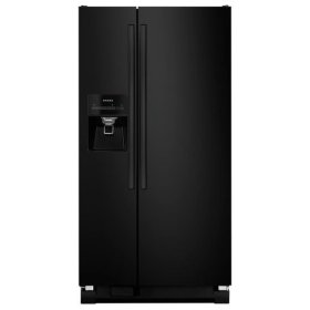 Amana® Side-by-Side Refrigerator with Deli Drawer - Black