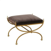 BRASS FINISHED IRON BENCH