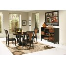 Boyer Transitional Amber and Black Five-piece Dining Set Product Image