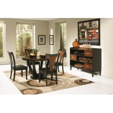 Boyer Transitional Amber and Black Five-piece Dining Set
