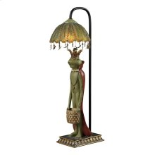 KING FROG WITH BASKET ACCENT LAMP