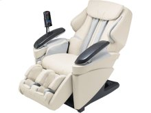 Real Pro ULTRA Massage Chair with Heated Rollers, 3D Massage Technology & 6 Pre-set Programs - Ivory Leather - EP-MA70CX