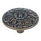 Hammered Medallion Knob 1 1/2 Inch - Burnished Bronze Product Image