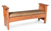 Prairie Mission Paneled Slat Santa Fe Bench