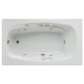 "Easy-Clean High Gloss Acrylic Surface, Rectangular, Whirlpool Bathtub, Standard Package, 42"" X 72"""