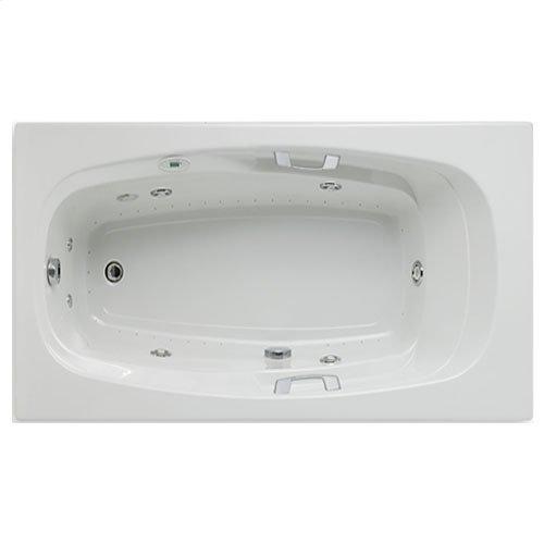 "Easy-Clean High Gloss Acrylic Surface, Rectangular, AirMasseur® - Whirlpool Bathtub, Standard Package, 42"" X 72"""