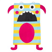 Teal Stripe Monster Laundry Bag.