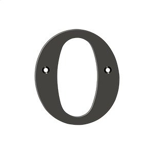 """4"""" Residential Letter O - Oil-rubbed Bronze Product Image"""