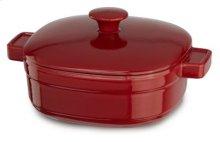 Streamline Cast Iron 3-Quart Casserole - Empire Red