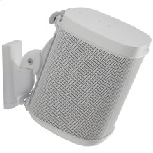 White Wireless Speaker Swivel and Tilt Wall Mounts designed for Sonos ONE. Play:1, and Play:3