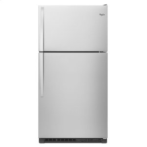33-inch Wide Top Freezer Refrigerator - 20 cu. ft. - MONOCHROMATIC STAINLESS STEEL