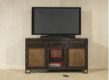 Bridgewater 3 Door Cabinet - Rubbed Black Wood