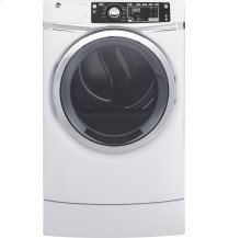 GE® 8.3 cu. ft. capacity RightHeight Design Front Load electric ENERGY STAR® dryer with steam