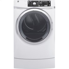 GE® 8.3 cu. ft. Capacity RightHeight™ Front Load Electric ENERGY STAR® Dryer with Steam [OPEN BOX]